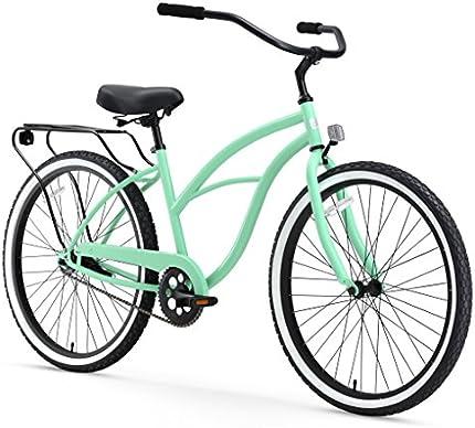 """Sixthreezero Bicicleta Cruiser para mujer, de velocidad única, de 26 pulgadas, 17""""/Un tamaño"""