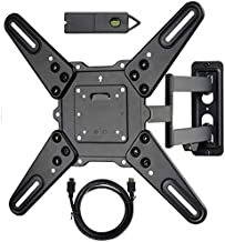 VideoSecu ML531BE2 TV Wall Mount kit with Free Magnetic Stud Finder and HDMI Cable for Most 26-55 TV and New LED TV up to 60 inch VESA 400x400 Full Motion with 20 inch Articulating Arm WP5