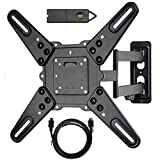 VideoSecu ML531BE2 TV Wall Mount kit with HDMI Cable for Most 26-55 Flat Screen Monitor and LED TV up to 60 inch VESA 400x400 Full Motion with 20 inch Articulating Arm WP5