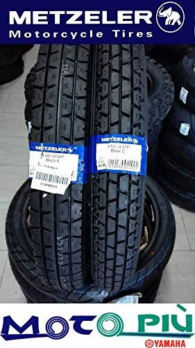 Paire de pneus Metzeler Block C+K 3.50-19 57P 4.00-1864P DOT 2018
