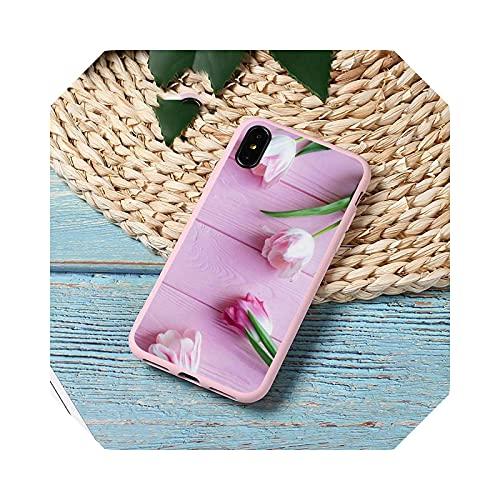 Peony Flower - Carcasa para iPhone 11 12 Mini Pro XS Max 8, 7, 6, 6S Plus X, 5S, se 2020, XR-a10-para iPhone 6 y 6S