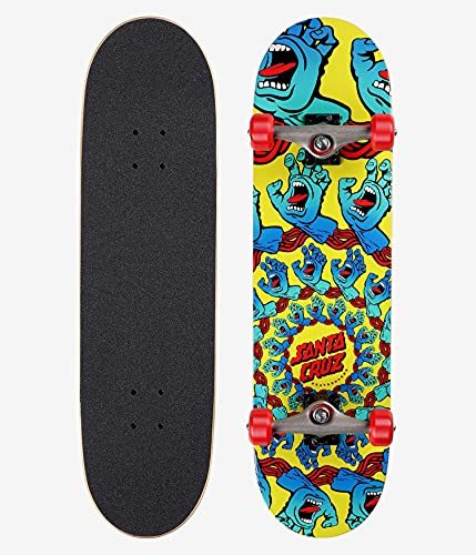 skateboard santa cruz Santa Cruz Skateboard completo Mandala mano giallo/blu/rosso 21 cm x 80 cm