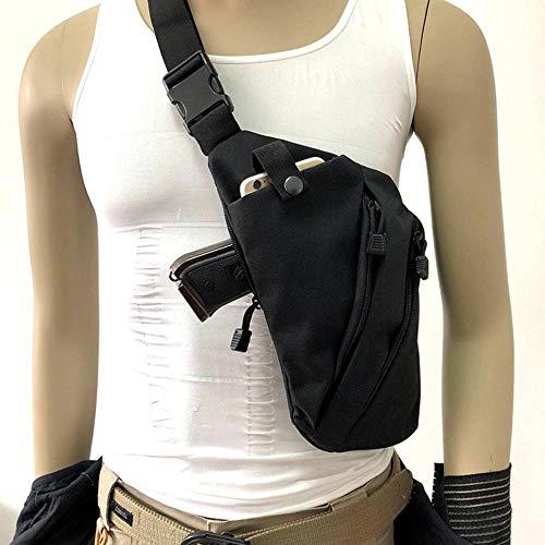 LIVIQILY Men's Shoulder Bag Single Bag Tactical Gun Bag Pistol Hand Gun Case (Black)