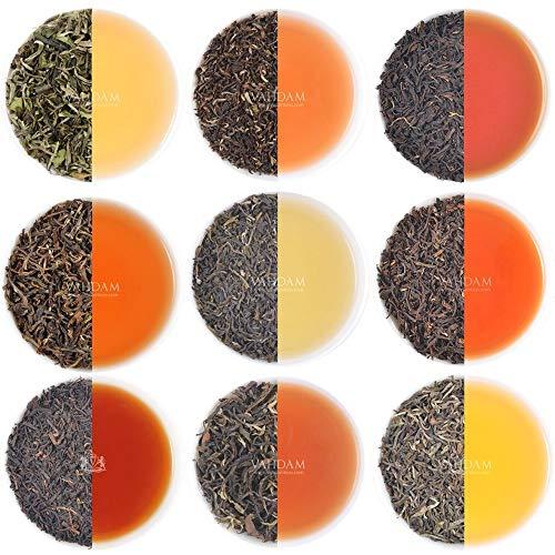 VAHDAM, Darjeeling Teesampler - 10 TEE, 50 Portionen | 100% reiner ungemischter Darjeeling-Tee Loose...