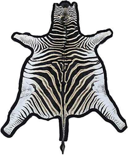 Zerimar Afrikanischer Zebrafell Teppich Natural Premium | Maßnahmen: 240x200 cms | Teppich Wohnzimmer | African Teppich | Teppich Schlafzimmer