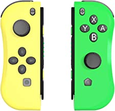 Aosai for NS Switch Joy Pad Controllers - Left and Right Controllers Compatible for Nintendo Switch Console as a Joy Con Controller Replacement (Yellow/Green)