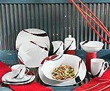 Erwin Müller Kaffeeservice, Porzellangeschirr 18-teilig, für 6 Personen - spülmaschinenfest, mikrowellengeeignet - Kaffeetasse, Untertasse, Dessertteller - 3
