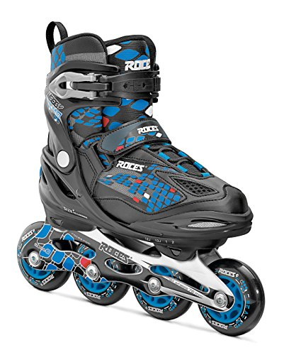 Roces Jungen Inlineskates Moody 4.0, Black-Astro Blue,Red, 30-35, 400777-002