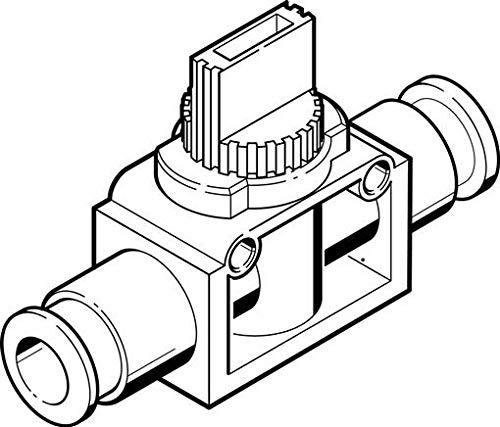 HE-2-QS-6 (153467) Absperrventil Ventilfunktion:2/2 bistabil Pneumatischer Anschluss 1:QS-6