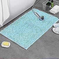 吸収性の浴室マットはスーパーソフト耐久の浴室カーペットのフロアーリングクイック乾燥浴室の寝室の台所のフロアマット blue-19.6*31.5 in