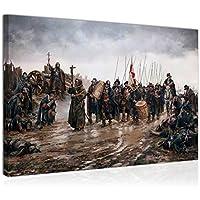 Topquadro Cuadro Imagen sobre Lienzo 70x50cm, El Milagro de Empel, Batalla, Victoria, Augusto Ferrer-Dalmau - Decoración de Pared - Una Pieza