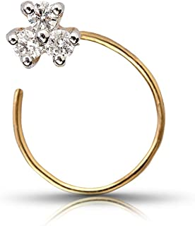WHP Jewellers 18KT Yellow Gold and Diamond Nose Pin for Women