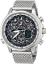 Citizen Eco-Drive Promaster Navihawk A-T Quartz Mens Watch, Stainless Steel, Pilot watch, Silver-Tone (Model: JY8030-83E)