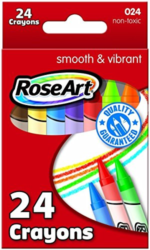 Roseart Crayons 24 Per-Pack