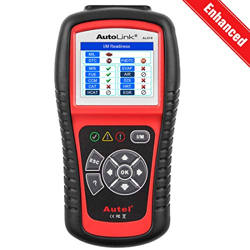 Autel AutoLink AL519 OBD2 Scanner Enhanced Mode 6 Car Diagnostic Tool Check Engine Code Reader CAN Scan Tool Advanced Ver of AL319
