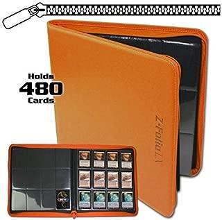 BCW Z-Folio LX Zipper Portfolio Orange 12 Pocket Playset Album