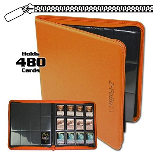 BCW Z-Folio LX Zipper Portfolio Orange 12 Pocket Playset Album