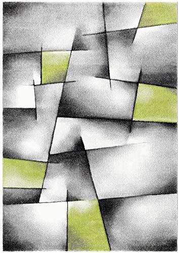NAZAR Tapis de Salon Moderne Géométrique à Carreaux de Couleur Rouge, Bleu, Vert (Vert, 120x170cm)