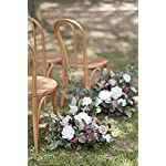 ling's moment free-standing artificial flower arrangement for wedding arch and aisle entry floral decor – pack of 2