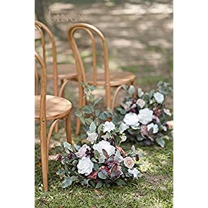 ling's moment free-standing artificial flower arrangement for wedding arch and aisle entry floral decor – pack of 2 silk flower arrangements
