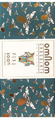 Omnom Dunkle Schokolade Peru 100%   Ohne Nüsse, Milch oder Zucker   Bio-Kakaobohnen, Kakaobutter, intensiv & zartbitter   Feinste Luxus-Süßigkeiten Mit Walnussnote, Ideal als Geschenk   Einzelpackung
