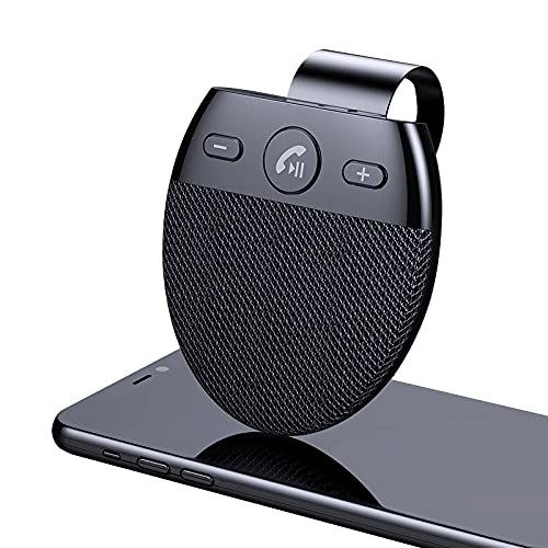Kit mains libres Bluetooth 5.0 pour voiture, kit mains libres, visière, stéréo, haut-parleur, récepteur audio sans fil Sun Visor, adaptateur avec capteur de mouvement intégré, GPS/musique