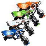 HISTOYE Laser Tag Guns Set of 4 Laser Tag for Kids 4 Player Pack...