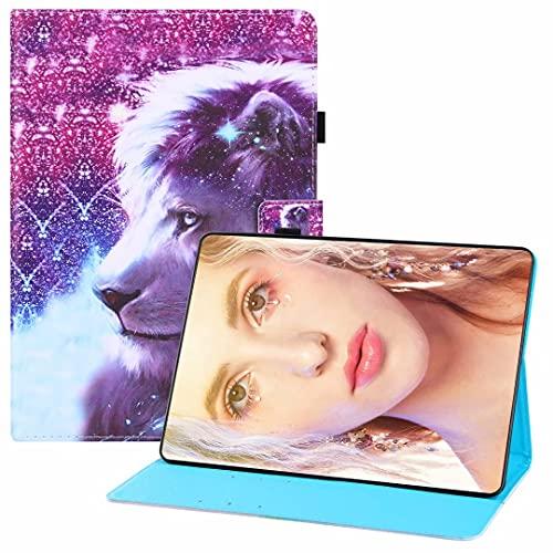 CRABOT Compatible con Samsung Galaxy Tab A 8.4 (2020)/T307U Tablet Case Flip Wallet Funda de cuero con protección completa a prueba de golpes y arañazos ranuras para tarjetas Cover-Lion