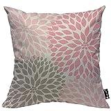 Mugod Dahlia Flower Throw Pillow Case Cover...