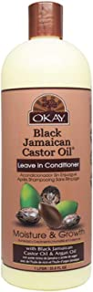 OKAY | Black Jamaican Castor Oil | Leave-In Conditioner for All Hair Types| Repair - Moisturize - Grow Healthy Hair | With Argan Oil & Shea Butter | Free of Parabens, Silicones, Sulfates | 33 oz