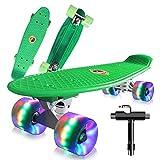Saramond Skateboards Komplette 55cm Mini Cruiser Retro Skateboard...