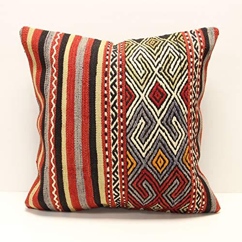 Turkish pillow 20x20 Pillow Kilim accessory decorative pillow Kilim cushion home decor square pillow vintage pillow kilim pillow