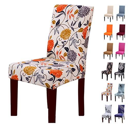 Crralos® Fundas para sillas Lavable Extraíble, Elasticas Funda Sillas Comedor Fundas Protectoras para sillas para Duradera Modern Hotel, Boda, Decor Restaurante Sala de Estar Cocina