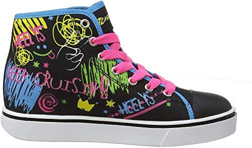 Heelys Mädchen Veloz Hohe Sneaker, Schwarz (Black/Rainbow/Scribble Black/Rainbow/Scribble), 34 EU