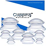 Cupping Warehouse Supreme 8 DEEP PRO 6065 Sturdy (4sizes) Cupping Therapy Sets Professional and Self Care Chinese Silicone Anti Cellulite Massage Suction Cups Joint, Pain, Muscles, Fascia, Lymphatic