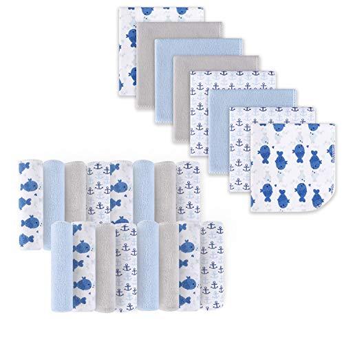 Toallitas para bebé, tela de baño extra suave y ultra absorbente, grandes regalos para recién nacidos y bebés, 23 × 23 cm, paquete de 24