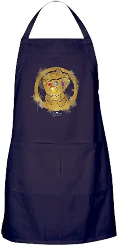 CafePress Gold Infinity Gauntlet Kitchen Apron With Pockets Grilling Apron Baking Apron