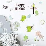 Pegatinas de la pared del dinosaurio de la historieta linda para los niños-bebé Decoración de la pared etiqueta de la pared Dormitorio de la pared etiqueta Etiqueta de la pared Decoración de la pared