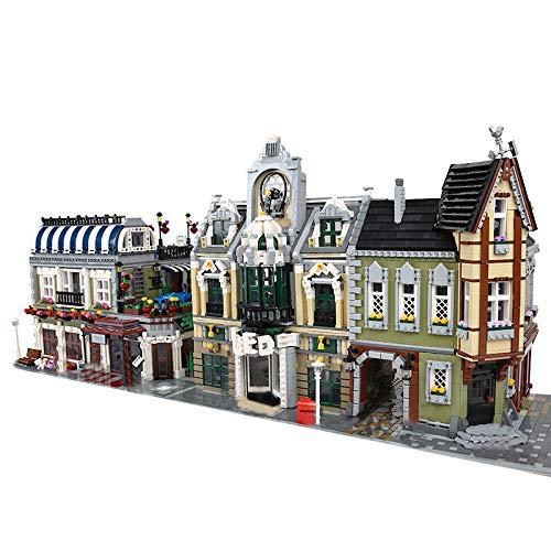 KEAYO Juego de construcción 3 en 1 de construcción modular, 9090 piezas de bloques de construcción, modelo de casa, compatible con casa Lego.
