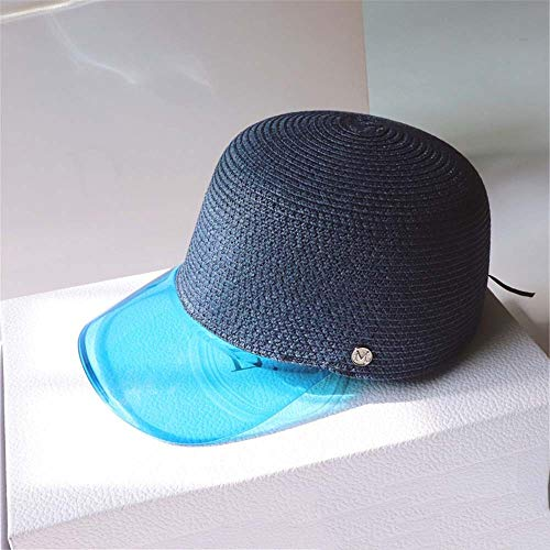 KCJMM-HAT Sport Tennis Golf Visiera da Sole Cappelli Unisex Protezione UV Cappello da Esterno,Visiera UV Esterna in plastica Trasparente con Cappuccio in PVC, Blu