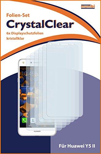 mumbi Schutzfolie kompatibel mit Huawei Y5 II Folie klar, Displayschutzfolie (6X) - 3