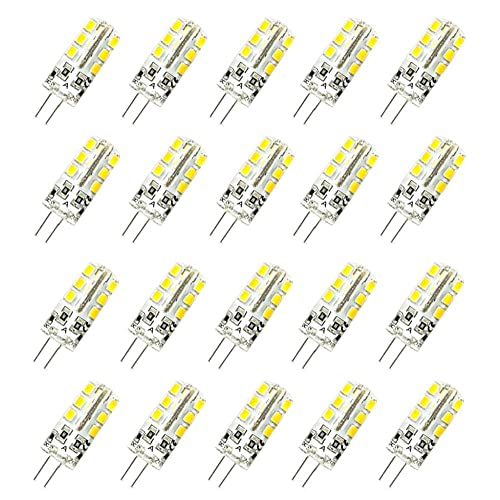 Sraeriot G4 Led Bombillas Jc Bi-Pin Base 3w Dc12v Bombilla Halógena Reemplazo Paisaje Bulbos 20pcs Otros Artículos