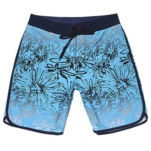 Jitong Maillot de Bain Surf Homme Confortable et Léger Short de Plage Bermuda Short de Bain - Bleu # 2, CN 36