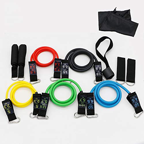 Sports Resistance Band, 11-Piece Fitness Pull Rope, Suitable for Men's Home Exercise Arm and Leg Muscles