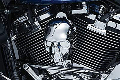 Kuryakyn 5730 Motorcycle Accent Accessory: Skull Horn Cover for 2017-19 Harley-Davidson Motorcycles with Stock Waterfall Style Horn Cover, Chrome from Kuryakyn