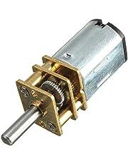 Yosoo Mini DC 6 / 12 V korte as koppel aandrijfmotor 50/200/300 RPM met metalen aandrijving, vervanging N20 voor RC-Car, robotmodel, doe-het-zelf motorspeelgoed (6 V 300 RPM)