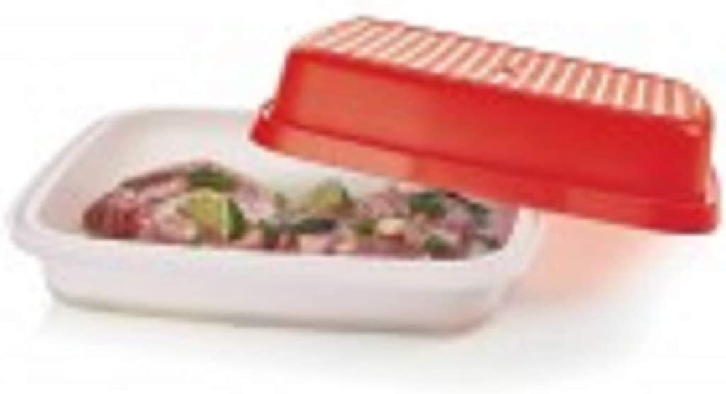 Ranking TOP13 Tupperware Large Season Serve Container Chili Sheer with Sea Department store Red