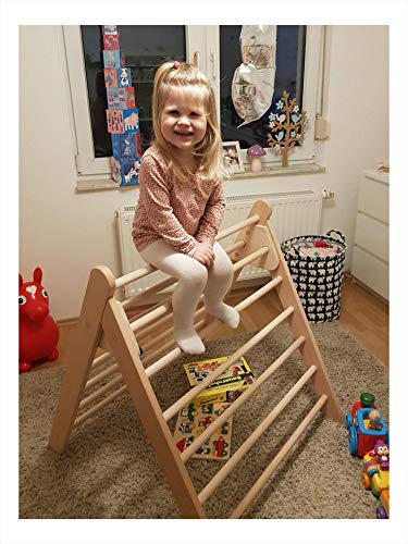rs-interhandel® großes Kletterdreieck Art Pikler incl. Kindersicherung, sehr hochwertig und beliebt, Dreiecksständer klappbares Sprossendreieck Spielzeug, fertig zusammengebaut