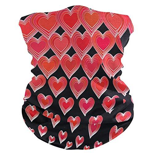 Diadema para día festivo de San Valentín, con forma de corazón, protección UV, protección solar, bufanda, bandana mágica, pasamontañas para mujeres y hombres