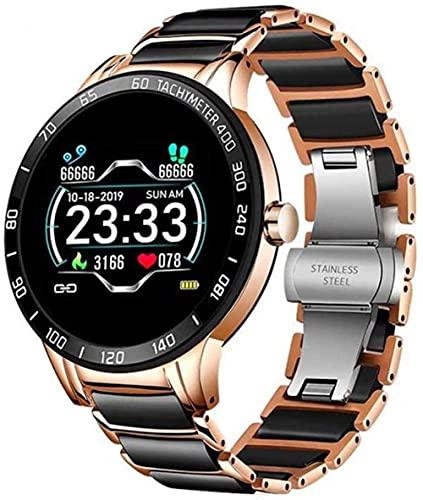 Reloj Inteligente Mujer s Reloj Hombres s Impermeable Deportes Fitness Moda Negocios Inteligente Reloj de Cerámica para Android Io-A
